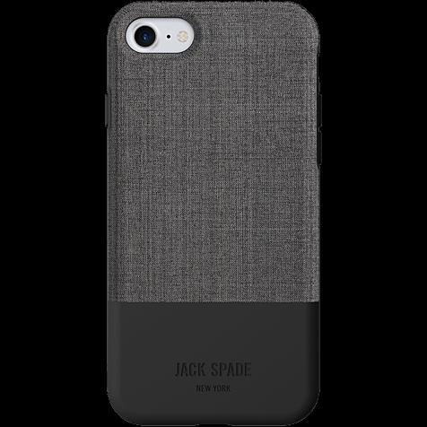 Jack Spade Colorblock Case Tech Oxford Gray Black Apple iPhone 7 99926259 hero