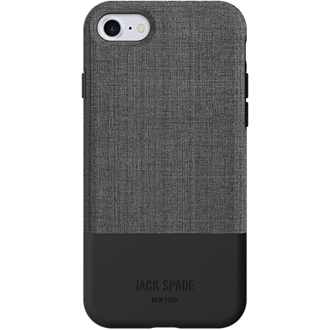 Jack Spade Colorblock Case Tech Oxford Gray Black Apple iPhone 7 99926259 hinten