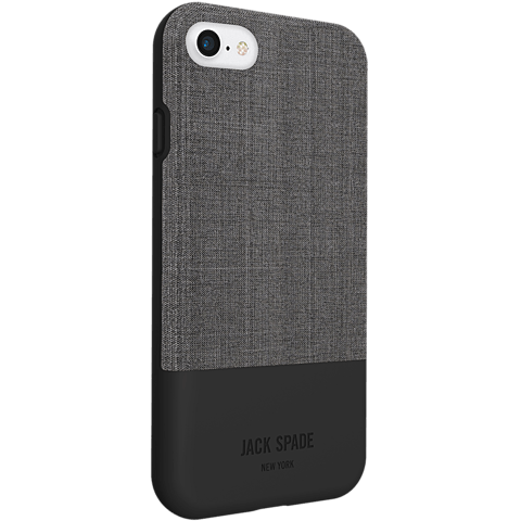 Jack Spade Colorblock Case Tech Oxford Gray Black Apple iPhone 7 99926259 seitlich