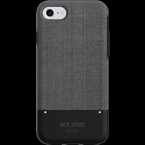 Jack Spade Credit Card Case Tech Oxford Gray Black Apple iPhone 7 99926263 hinten