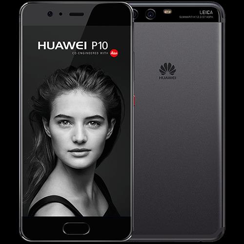 Huawei P10 schwarz vorne und hinten
