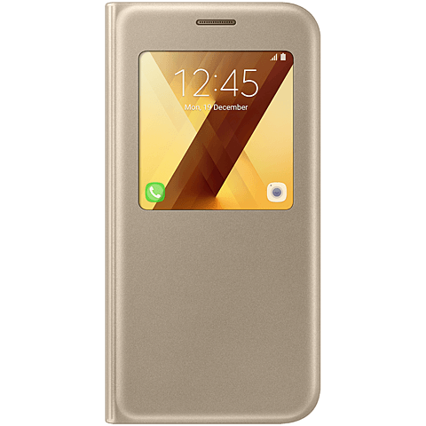Samsung S-View Standing Cover Gold Galaxy A5 (2017) 99926114 vorne