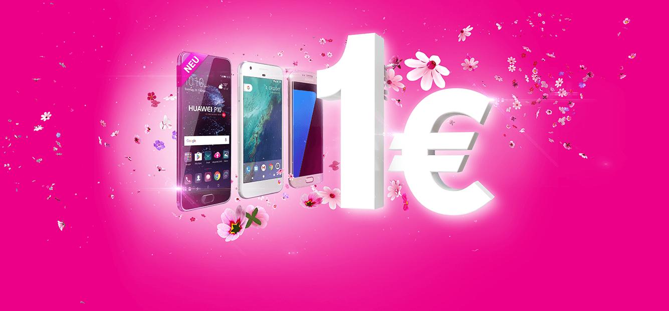 Top Smartphones für 1 €