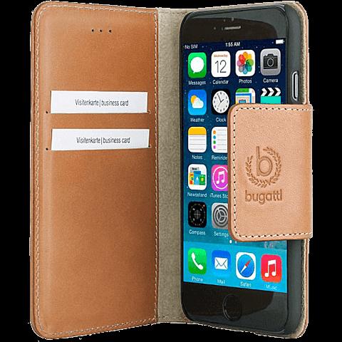 Bugatti BookCover Amsterdam Apple iPhone 6/6s cognac seitlich 99923708