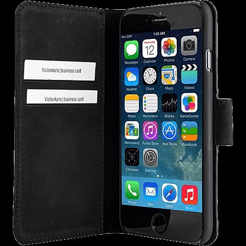 Bugatti BookCover Amsterdam Apple iPhone 6/6s schwarz seitlich 99923710