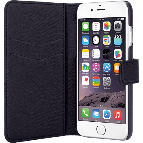 xqisit Slim Wallet Apple iPhone 6 und 6s schwarz hero 99923765
