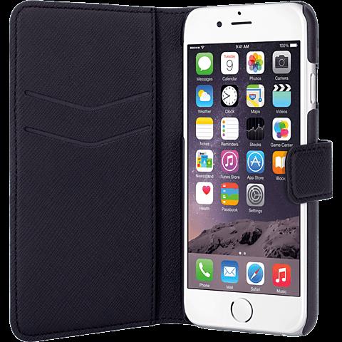 xqisit Slim Wallet Apple iPhone 6 und 6s schwarz vorne 99923765