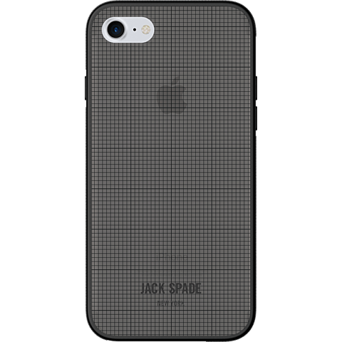 Jack Spade Printed Clear Case Graph Check Smoke Apple iPhone 7 99926262 vorne