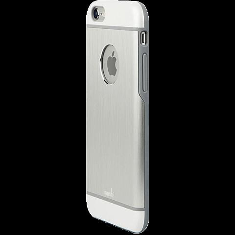 Moshi Cover iGlaze Armour Apple iPhone 6/6s silber hinten 99923751
