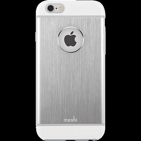 Moshi Cover iGlaze Armour Apple iPhone 6/6s silber vorne 99923751