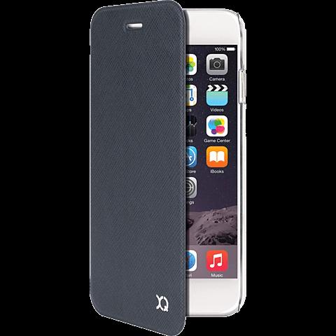 xqisit Flap Cover Adour Apple iPhone 6/6s grau vorne 99923764