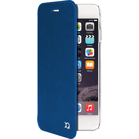 xqisit Flap Cover Adour Apple iPhone 6/6s blau vorne 9992360