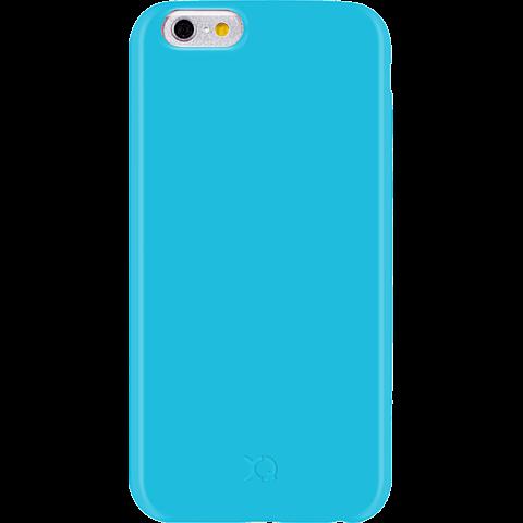 xqisit iPlate Liquid Silikon Apple iPhone 6/6s blau vorne 99923757