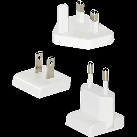 Ednet Ladegerät 4 x USB mit Reiseadapter weiss hinten 99923329