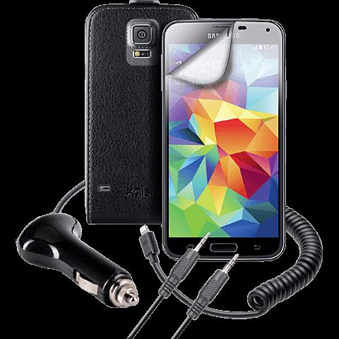 xqisit Starter Set Samsung Galaxy S5 schwarz vorne 99921461