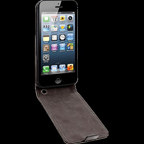 xqisit Flipcover Apple iPhone 5/5s schwarz seitlich 99919959
