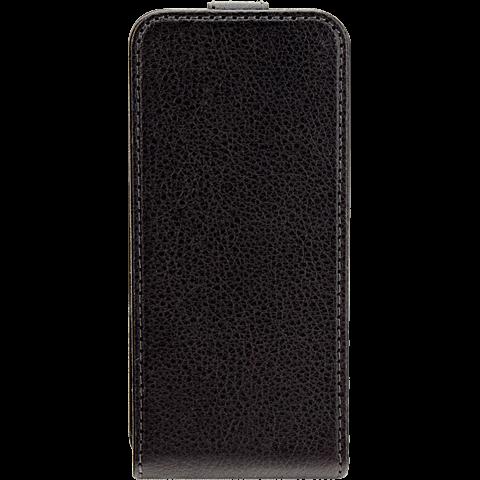 xqisit Flipcover Apple iPhone 5/5s schwarz vorne 99919959