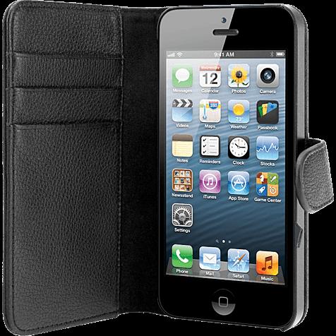 xqisit Wallet Case Apple iPhone 5 schwarz hero 99919962