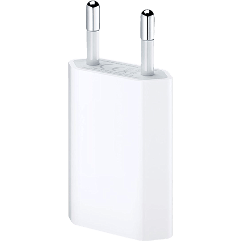 Apple USB Power Adapter für iPhone weiss vorne 99919985