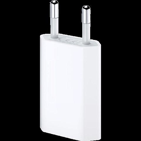 Apple USB Power Adapter für iPhone weiss vorne 99919985