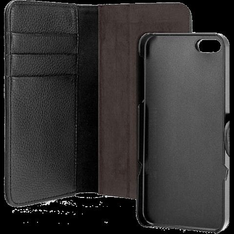 xqisit Wallet Case Apple iPhone 5/5s schwarz vorne 99920994