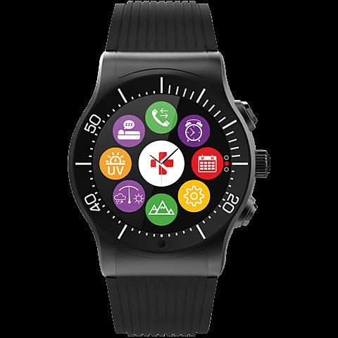 MyKronoz ZeSport Smartwatch Gehäuse Schwarz Armband Schwarz 99926390 vorne