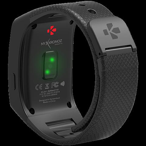 MyKronoz ZeWatch4 HR Smartwatch Gehäuse Schwarz Armband Schwarz 99926387 hinten
