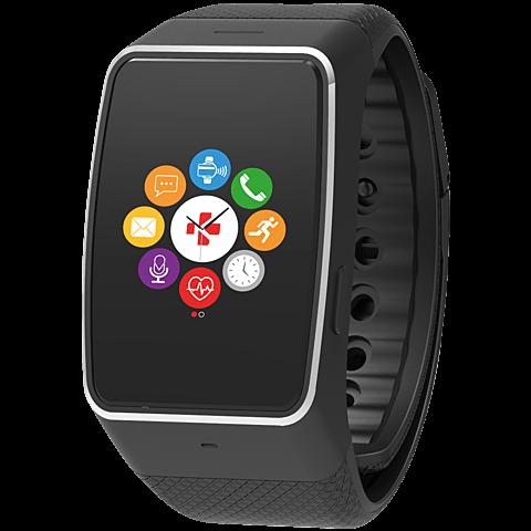 MyKronoz ZeWatch4 HR Smartwatch Gehäuse Schwarz Armband Schwarz 99926387 vorne