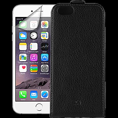 xqisit Angebots Starter Set iPhone 6 schwarz vorne 99922096