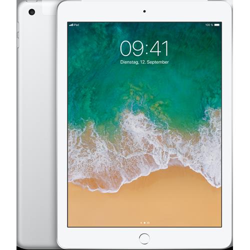 Apple iPad WiFi und Cellular Silber vorne und hinten