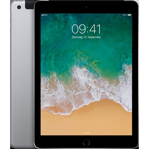 Apple iPad WiFi und Cellular Spacegrau vorne und hinten