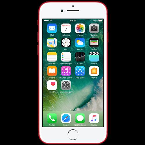 Apple iPhone 7 (PRODUCT)RED vorne und hinten