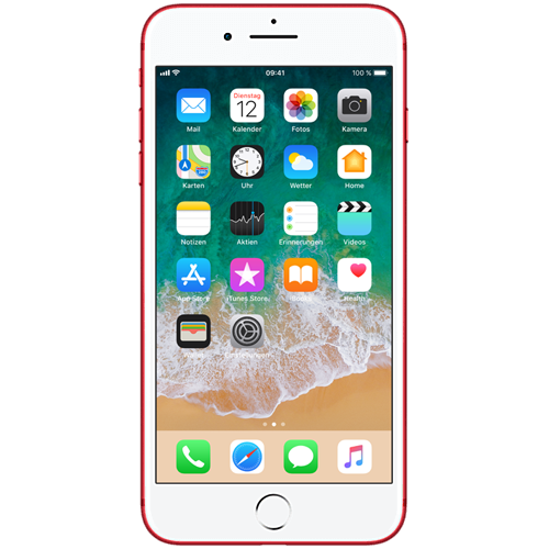 Apple iPhone 7 Plus (PRODUCT)RED vorne und hinten