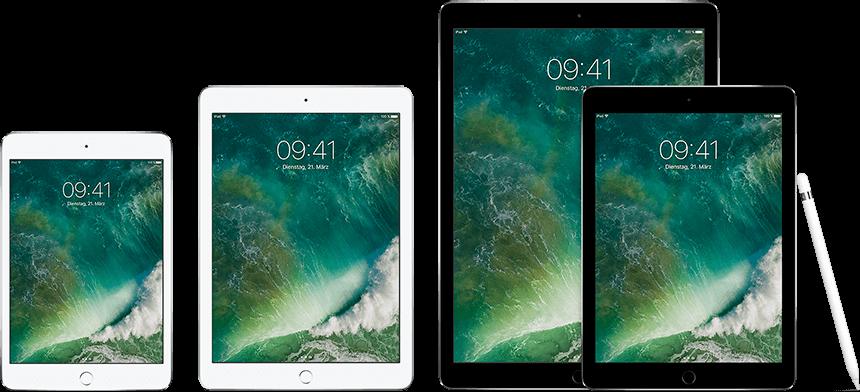 iPad mini 4 iPad iPad Pro