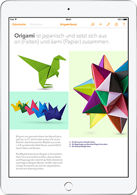 Pages, Numbers und Keynote