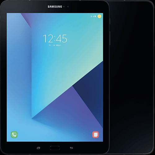 Samsung Galaxy Tab S3 LTE Schwarz vorne und hinten