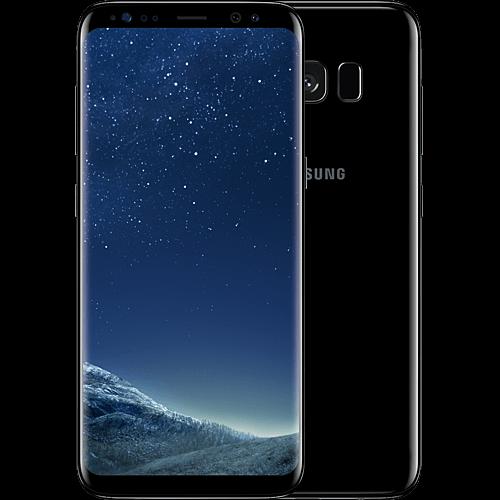 Samsung Galaxy S8 Schwarz vorne und hinten