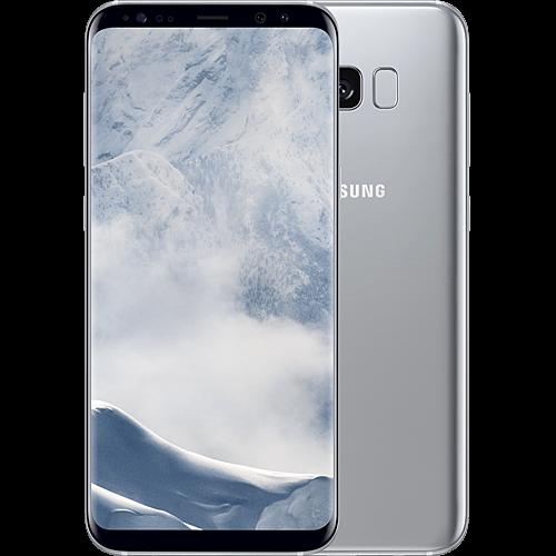 Samsung Galaxy S8 Plus Silber vorne und hinten