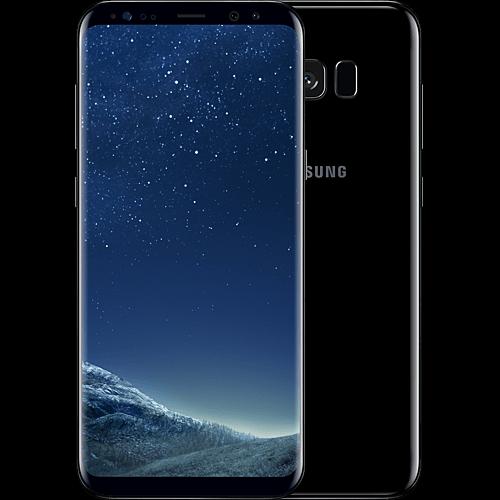 Samsung Galaxy S8 Plus Schwarz vorne und hinten