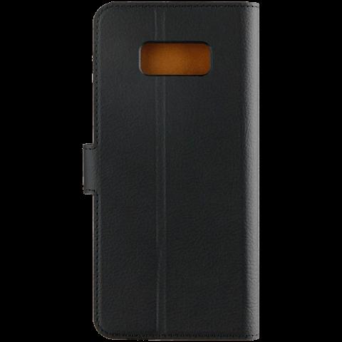 xqisit Slim Wallet Selection Schwarz Samsung Galaxy S8+ 99926343 hinten