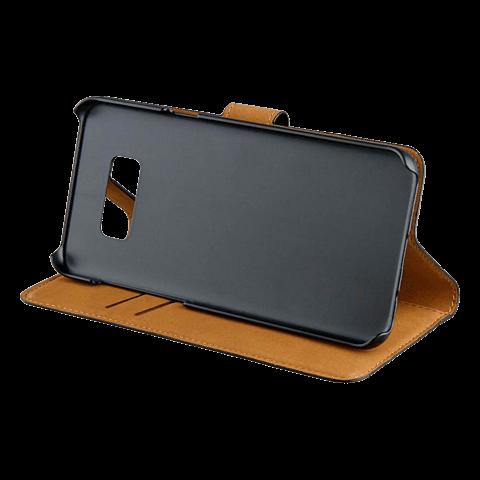 xqisit Slim Wallet Selection Schwarz Samsung Galaxy S8+ 99926343 seitlich