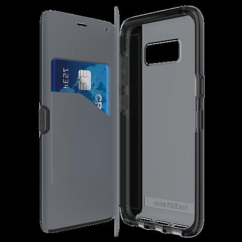 Tech21 Evo Wallet Hülle Schwarz Samsung Galaxy S8 99926378 seitlich