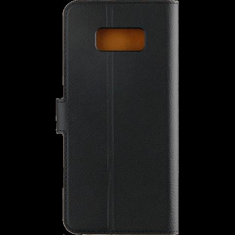 xqisit Slim Wallet Selection Schwarz Samsung Galaxy S8 99926342 hinten
