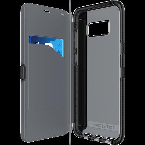 Tech21 Evo Wallet Hülle Schwarz Samsung Galaxy S8+ 99926381 seitlich