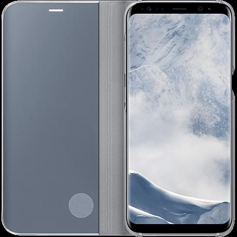 Samsung Clear View Cover Silber Galaxy S8 99926494 seitlich