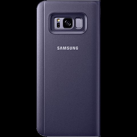 Samsung Clear View Cover Violett Galaxy S8+ 99926496 hinten