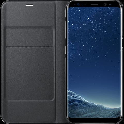 Samsung LED View Cover Schwarz Galaxy S8 99926499 seitlich