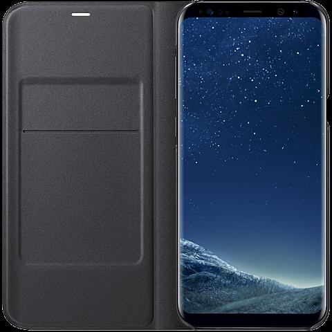 Samsung LED View Cover Schwarz Galaxy S8+ 99926502 seitlich