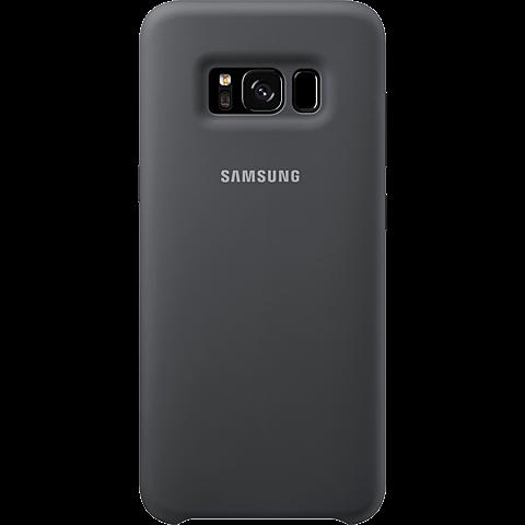 Samsung Silicone Cover Samsung Galaxy S8 Silbergrau 99926490 hinten