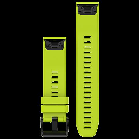 Garmin QuickFit Armband Gelbgrün 22mm fenix 5S 99926536 vorne